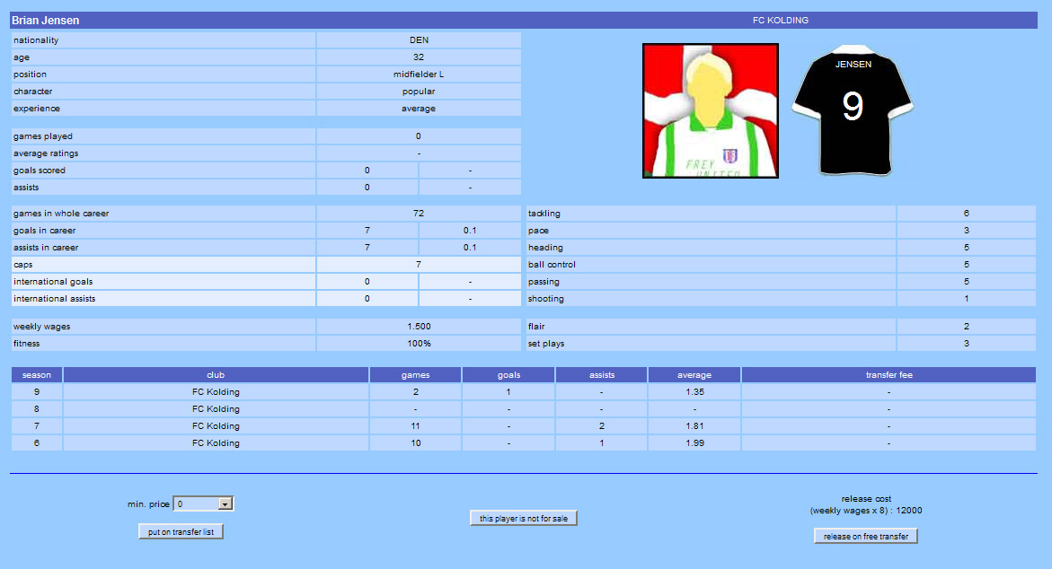 free online soccer manager Football-o-Rama